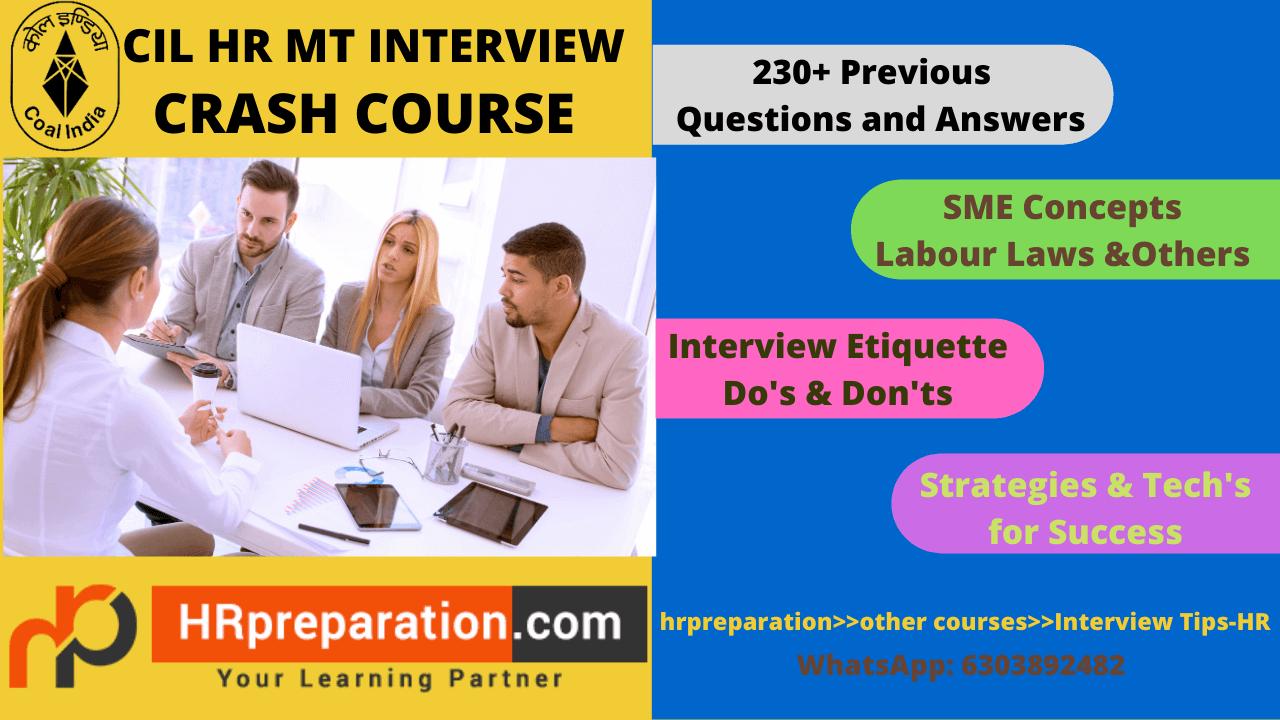 CIL HR MT INTERVIEW PREPARATION