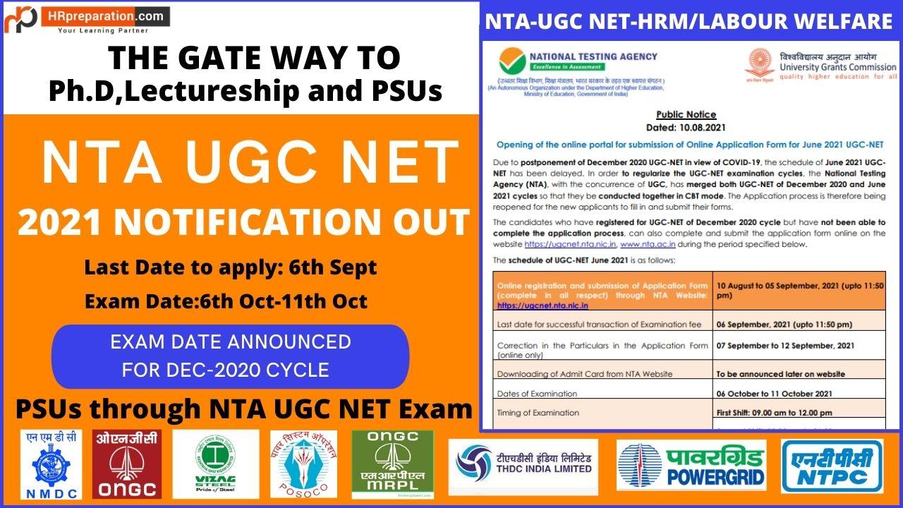 ugc net hrm labour welfare notification